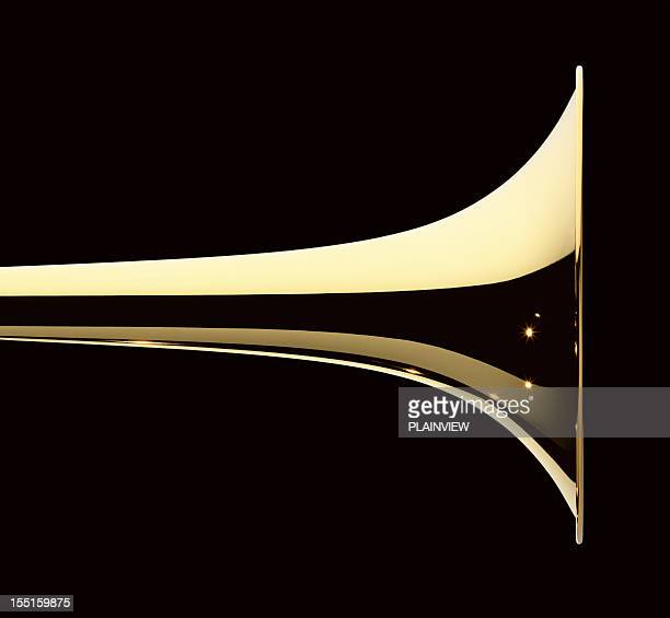 trumpet - brass stock pictures, royalty-free photos & images