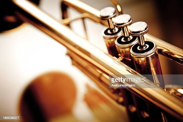 trumpet - musical instrument stock pictures, royalty-free photos & images
