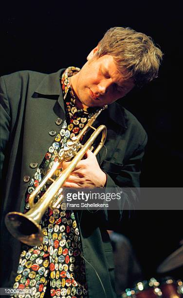 Trumpet player Eric Vloeimans performs live on stage at the BIMhuis in Amsterdam, Netherlands on 12th February 1999.