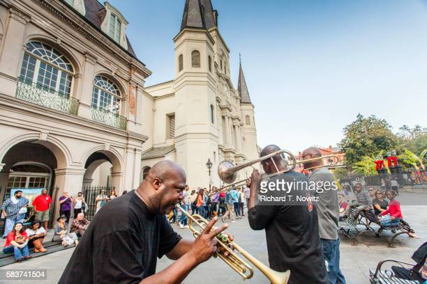 Trumpet player in Jackson Square