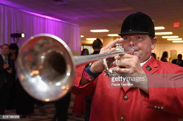 A trumpet player performs during the Unbridled Eve Gala during the 142nd Kentucky Derby on May 6 2016 in Louisville Kentucky