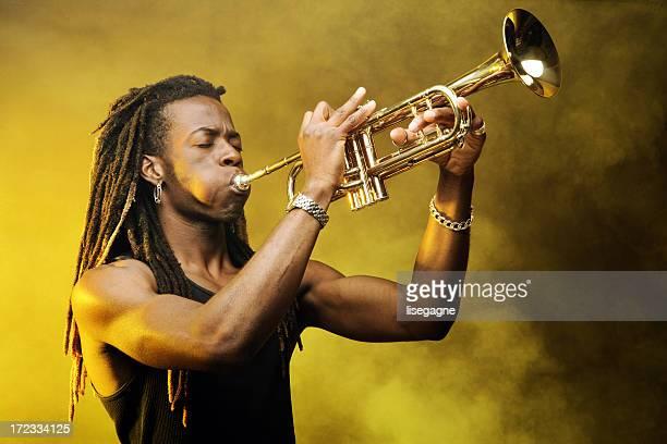 joueur de trompette - rasta photos et images de collection
