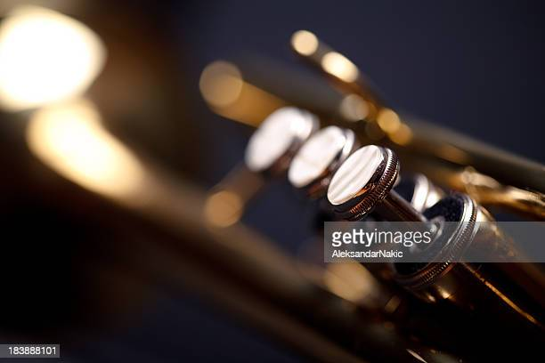 trumpet valves - trumpet stock photos and pictures