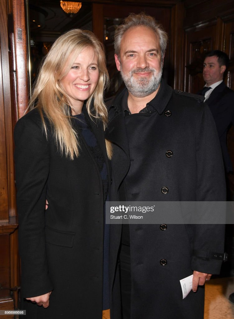 Trumpeter Alison Balsom and director Sam Mendes attends the opening night of 'Hamilton' at Victoria Palace Theatre on December 21, 2017 in London, England.