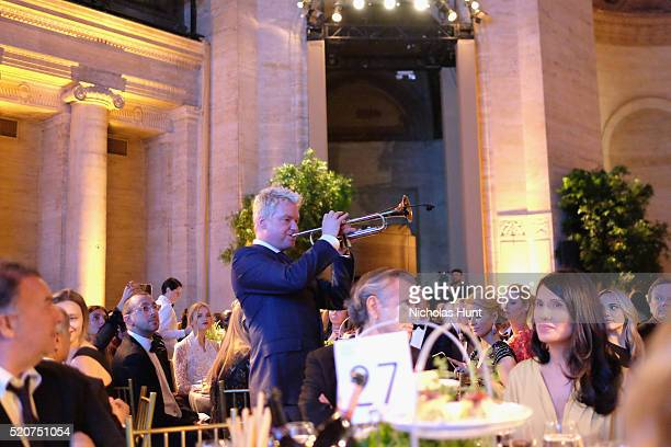 Trumpeter Chris Botti performs as honoree Goga Ashkenazi attends the Foundation Fighting Blindness World Gala at Cipriani 42nd Street on April 12...