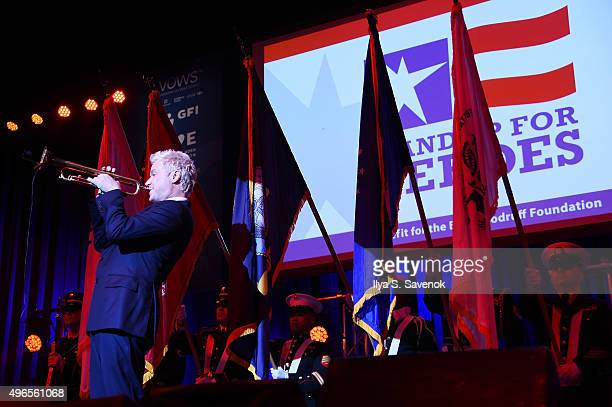 Trumpeter Chris Botti performs on stage at the New York Comedy Festival and the Bob Woodruff Foundation's 9th Annual Stand Up For Heroes Event on...
