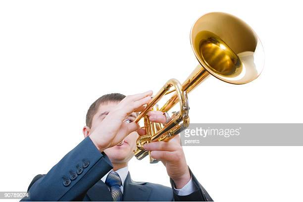 trumpeter (with clipping path)