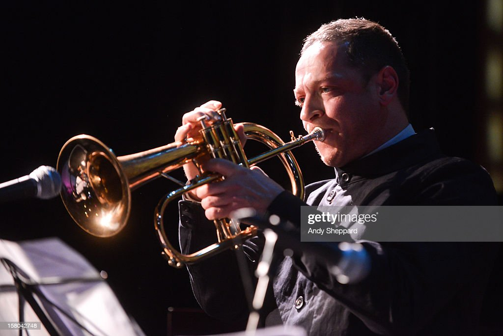 Trumpeter Sean Corby performs for the Jazz in the Round 2012 Christmas Special at The Cockpit Theatre on December 9, 2012 in London, England.