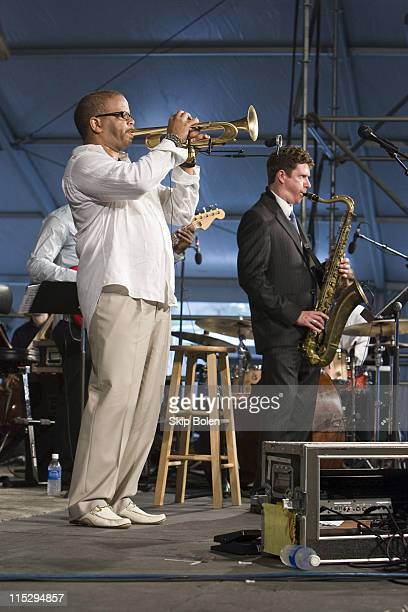 Trumpeter Terence Blanchard presents A Tale of God's Will featuring The Louisiana Philharmonic Orchestra on the WWOZ Jazz Tent stage at the 39th...