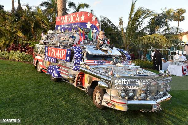 Trumpmobile at President Trump's one year anniversary with over 800 guests at the winter White House at MaraLago on January 18 2018 in Palm Beach...