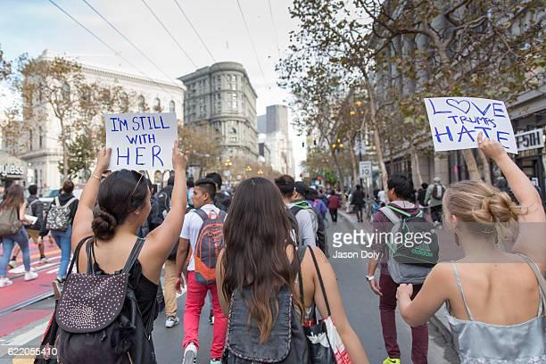 trump-protest - marchando - fotografias e filmes do acervo