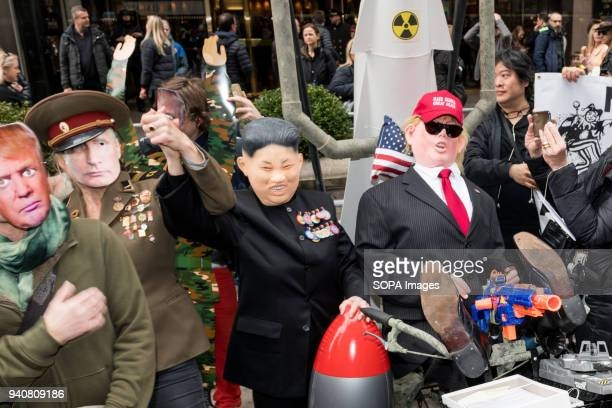 'Trumps Grand Military Parade' was the theme of New York City's 33rd Annual Aprils Fools Day Parade and 2nd Annual 'Trumpathon' Characters featured...