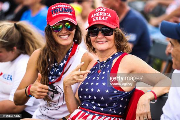 Trump's 'Save America' rally held at the Lorain County Fair Grounds in Wellington, Ohio, United States on June 26, 2021. Trump held a rally in...