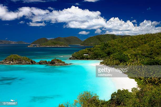 Trunk Bay beach, St. John, Isole Vergini Americane
