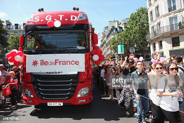 A trunk move during the annual Gay Pride Parade on June 27 2015 in Paris France Gay marriage was declared legal across the US in a historic supreme...