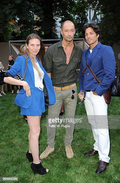 Trussardi designer Milan Vukmirovic and guests attend the cocktail reception for W Magazine's editorinchief at the Bulgari Hotel on May 18 2010 in...