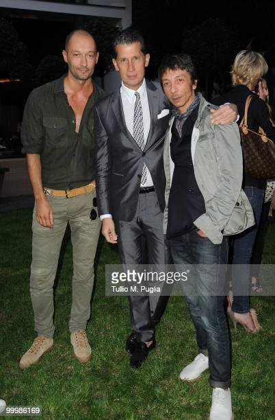 Trussardi designer Milan Vukmirovic W EditorinChief Stefano Tonchi and Valentino creative director Pierpaolo Piccioli attend the cocktail reception...