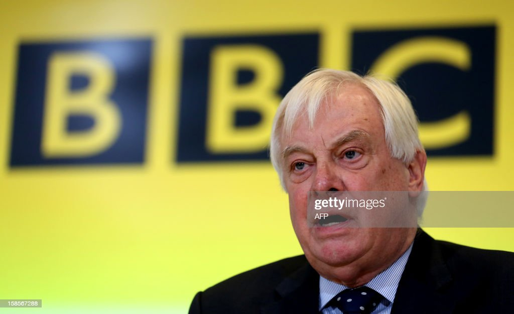 BBC Trust Chairman Chris Patten takes a question during a press conference at BBC Broadcasting House in London on December 19, 2012 on the release of the Pollard Report into the BBC's handling of the child-sex abuse claims against late presenter Jimmy Savile. The report strongly criticised the BBC's handling of allegations of child sex abuse against Savile but cleared the corporation of a cover-up. The report sparked the resignation of the BBC's deputy director of news, Stephen Mitchell, and led to the editor and deputy editor of the current affairs programme Newsnight at the centre of the scandal being replaced.