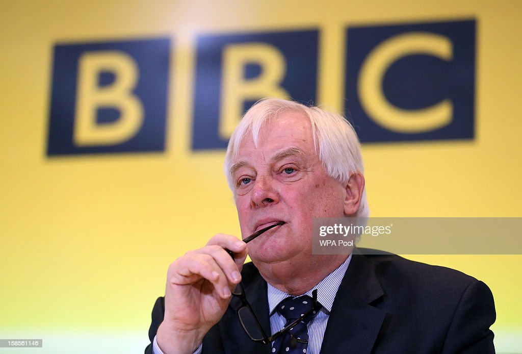 Trust Chairman Lord Patten looks on during a press conference about the Pollard Report, at BBC Broadcasting House on December 19, 2012 in London, England. The BBC Trust has announced the findings of the Pollard Report into the corporation's handling of sexual abuse allegations against former employee Jimmy Savile. Among the findings were that former Director-General George Entwistle failed to heed warnings relayed to him via email of Savile's 'dark side'.