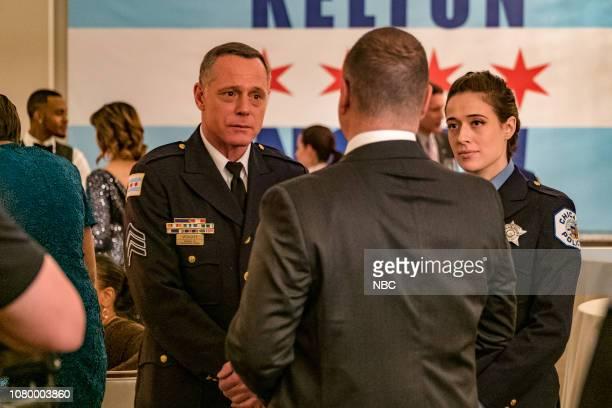 D Trust Episode 611 Pictured Jason Beghe as Hank Voight Marina Squerciati as Kim Burgess