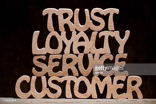 Trust Loyalty Service Customer, Wood Letter Word