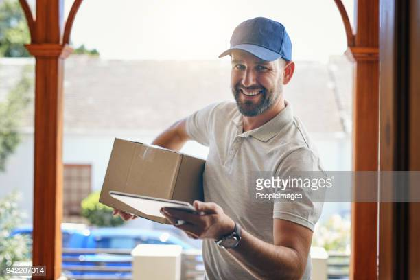i trust you weren't waiting very long for this delivery? - uniform cap stock pictures, royalty-free photos & images