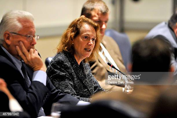 Trustee Alice Pope speaks during a Penn State University Board of Trustees meeting on Tuesday Oct 28 2014 The board gathered to vote on a review of...