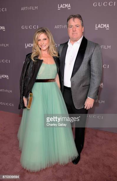 Trustee Allison Berg and Larry Berg attend the 2017 LACMA Art Film Gala Honoring Mark Bradford and George Lucas presented by Gucci at LACMA on...