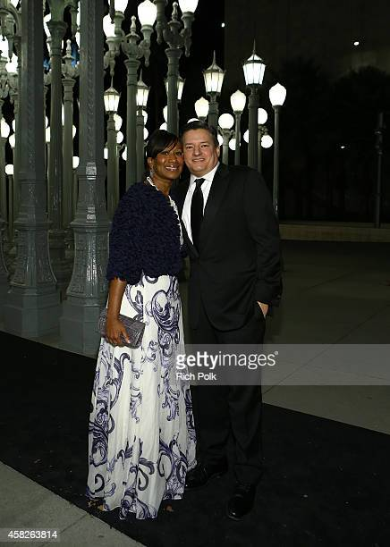 Trustee Ambassador Nicole Avant and Ted Sarandos attend the 2014 LACMA Art Film Gala honoring Barbara Kruger and Quentin Tarantino presented by Gucci...