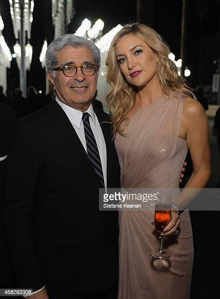 LACMA trustee and Board CoChair Terry Semel and actress Kate Hudson wearing Gucci attend the 2014 LACMA Art Film Gala honoring Barbara Kruger and...