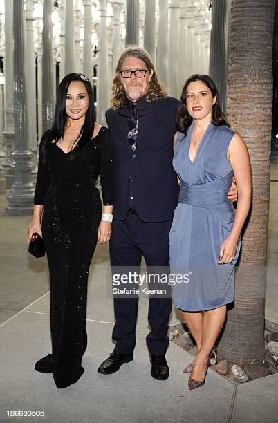 Trustee and Gala CoChair Eva Chow wearing Gucci and artists Mark Grotjahn and Jennifer Guidi attend the LACMA 2013 Art Film Gala honoring Martin...