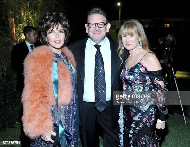 LACMA Trustee Carole Bayer Sager CBE Chairman CEO UMG Lucian Grainge and Caroline Grainge attend the 2017 LACMA Art Film Gala Honoring Mark Bradford...