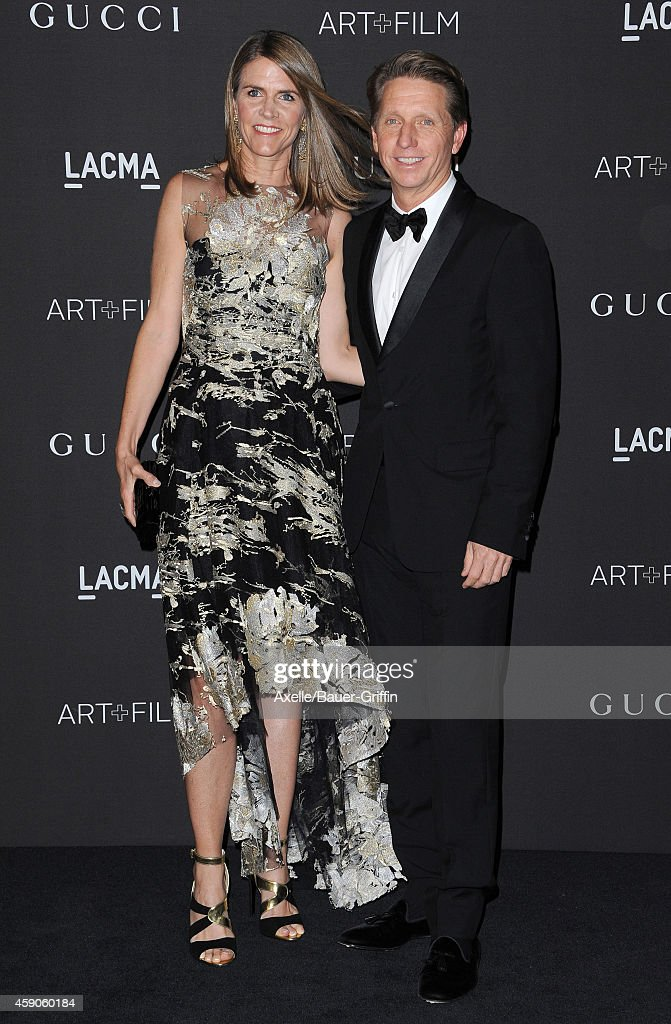 Trustee Colleen Bell and Bradley Bell attend the 2014 LACMA Art + Film Gala Honoring Barbara Kruger And Quentin Tarantino Presented By Gucci at LACMA on November 1, 2014 in Los Angeles, California.