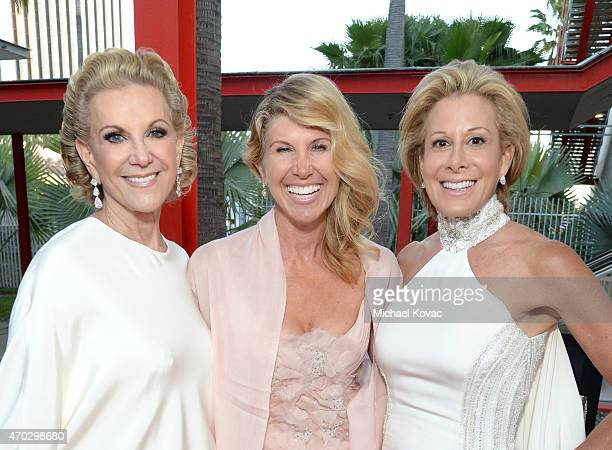 LACMA Trustee Elaine Wynn Kevyn Wynn and guest attend the LACMA 50th Anniversary Gala sponsored by Christie's at LACMA on April 18 2015 in Los...