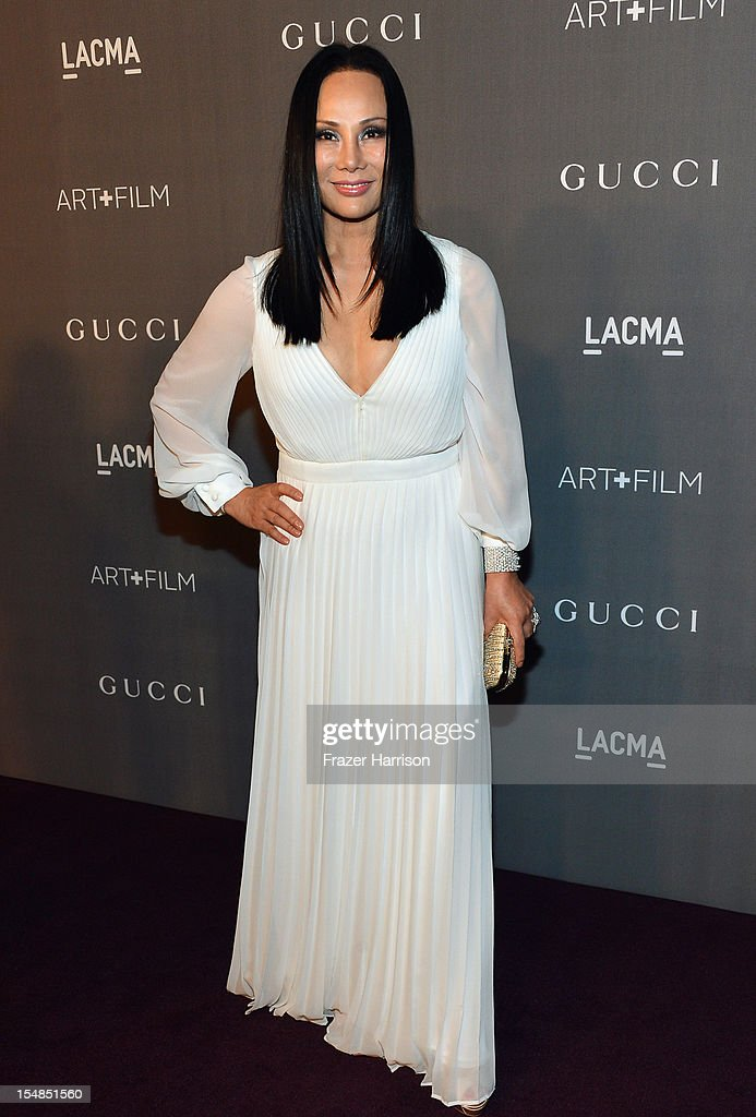 Trustee Eva Chow arrives at LACMA 2012 Art + Film Gala Honoring Ed Ruscha and Stanley Kubrick presented by Gucci at LACMA on October 27, 2012 in Los Angeles, California.