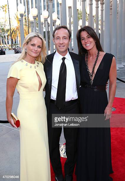 Trustee Heather Mnuchin Dan Dees and Daun Dees attend the LACMA 50th Anniversary Gala sponsored by Christie's at LACMA on April 18 2015 in Los...