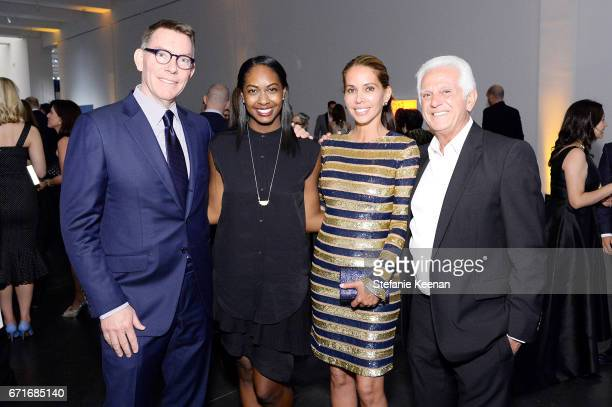 Trustee Kelvin Davis Teal Black Vaitiare Hirshon and Maurice Marciano attend LACMA 2017 Collectors Committee Gala at LACMA on April 22 2017 in Los...