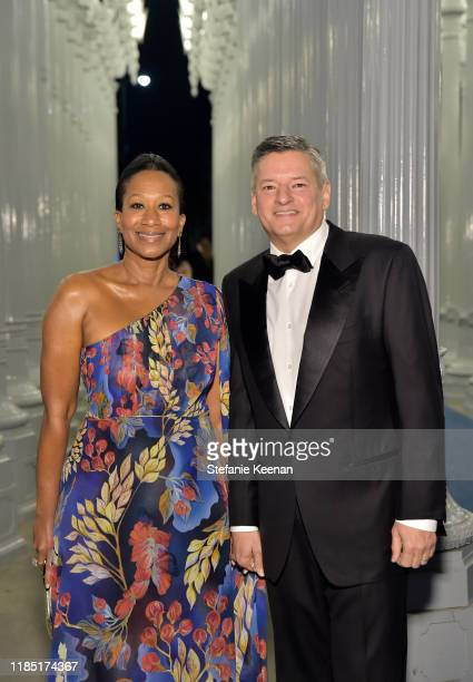 LACMA Trustee Nicole Avant and Ted Sarandos attend the 2019 LACMA Art Film Gala Presented By Gucci at LACMA on November 02 2019 in Los Angeles...