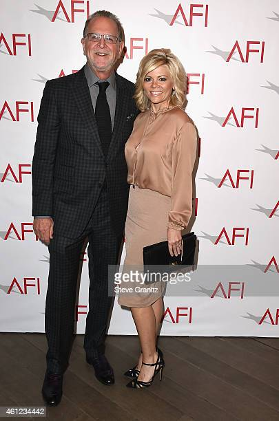 Trustee Rich Frank and Leslie Miller attend the 15th Annual AFI Awards at Four Seasons Hotel Los Angeles at Beverly Hills on January 9, 2015 in...