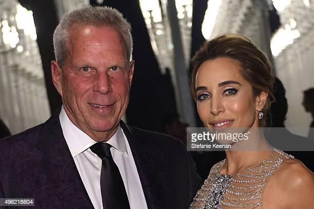 Trustee Steve Tisch and designer Katia Francesconi attend LACMA 2015 ArtFilm Gala Honoring James Turrell and Alejandro G Iñárritu Presented by Gucci...