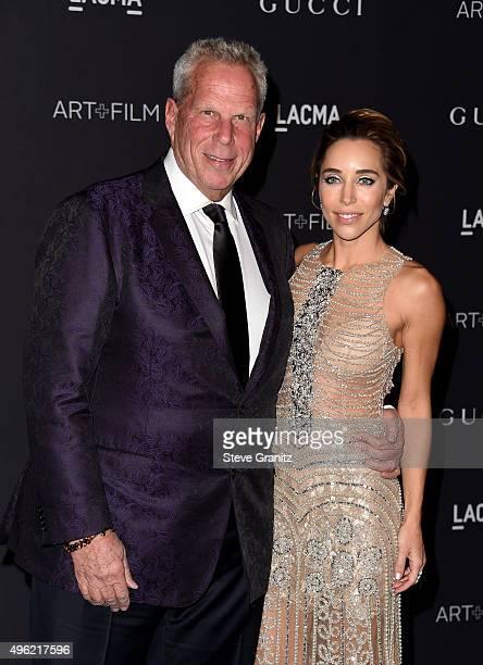 LACMA trustee Steve Tisch and Katia Francesconi attend LACMA 2015 ArtFilm Gala Honoring James Turrell and Alejandro G Iñárritu Presented by Gucci at...