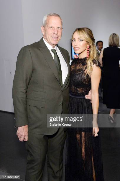 Trustee Steve Tisch and Katia Francesconi attend LACMA 2017 Collectors Committee Gala at LACMA on April 22 2017 in Los Angeles California