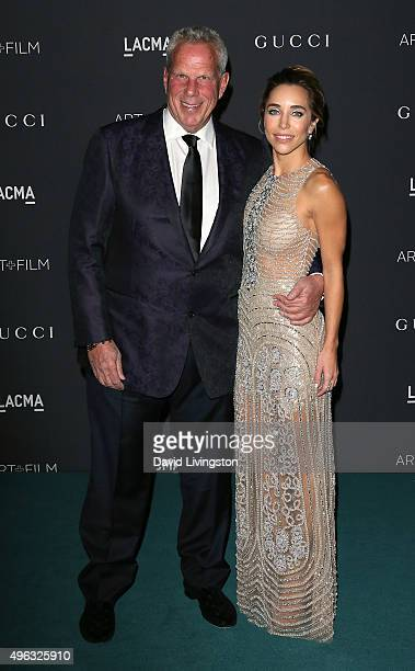 Trustee Steve Tisch and Katia Francesconi attend the LACMA Art Film Gala honoring Alejandro G Iñárritu and James Turrell and presented by Gucci at...