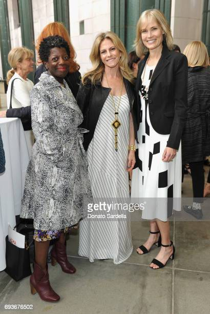 LACMA trustee Thelma Golden Allison Berg and LACMA trustee Willow Bay attend LACMA Director's Circle Celebrates The Wear LACMA Spring/Summer 2017...