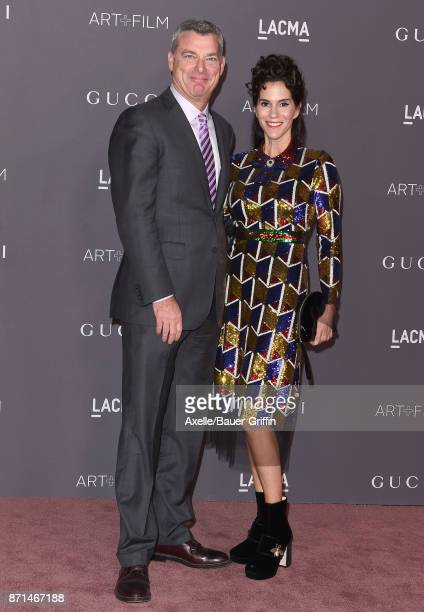 Trustee Tony Ressler and actress Jami Gertz arrive at the 2017 LACMA Art Film Gala at LACMA on November 4 2017 in Los Angeles California