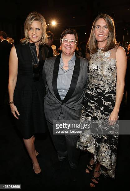 LACMA Trustee Viveca PaulinFerrell Catherine Opie LACMA Trustee Colleen Bell attend the 2014 LACMA Art Film Gala honoring Barbara Kruger and Quentin...