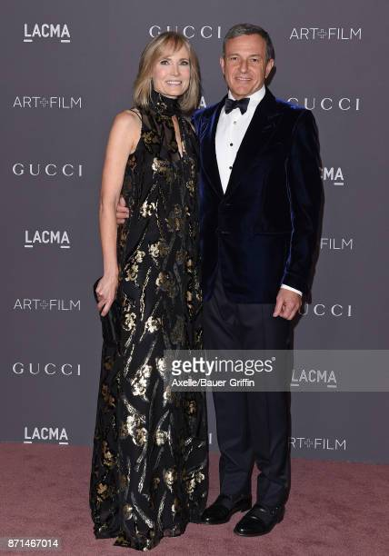Trustee Willow Bay and Bob Iger arrive at the 2017 LACMA Art Film Gala at LACMA on November 4 2017 in Los Angeles California