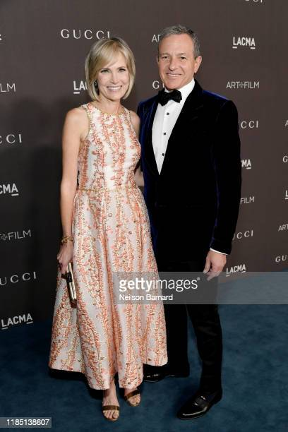 LACMA Trustee Willow Bay and Bob Iger attend the 2019 LACMA Art Film Gala Presented By Gucci at LACMA on November 02 2019 in Los Angeles California
