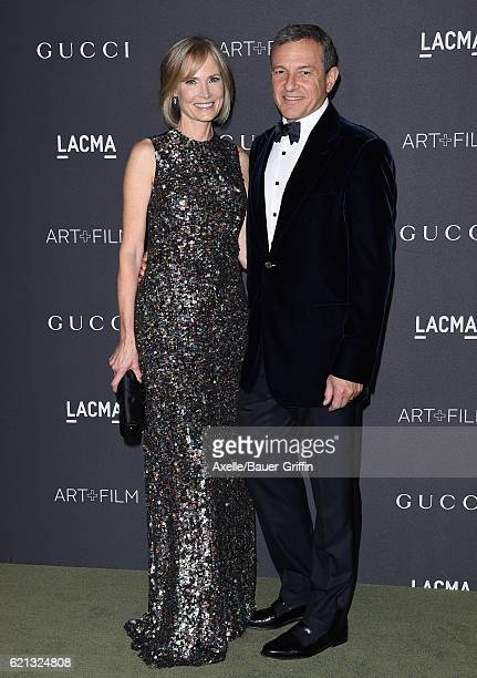 Trustee Willow Bay and Walt Disney Company Chairman/CEO Bob Iger attend the 2016 LACMA Art Film Gala honoring Robert Irwin and Kathryn Bigelow...
