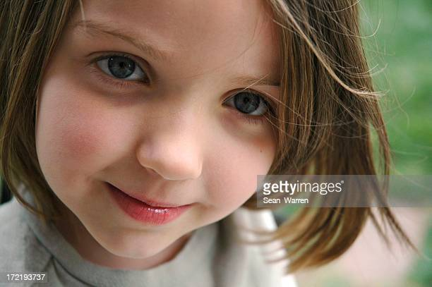 trusting eyes of a little girl - great granddaughter stock photos and pictures
